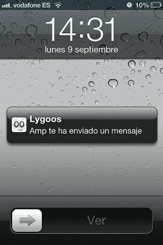 notificación push lygoos