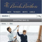 Brooks Brothers Web móvil