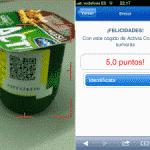 Campaña de fidelización de Danone con códigos QR