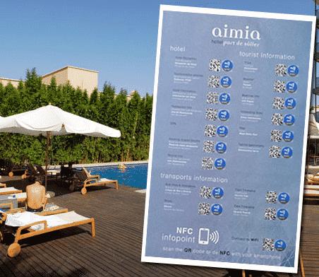 ejemplo nfc codigos qr informacion turistica en hoteles