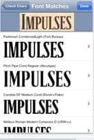 iPhone Font Matches