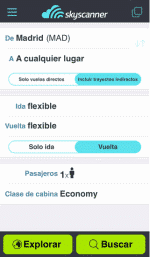 Mejor aplicación móvil de mejora de la experiencia del turista en el viaje: Skyscanner