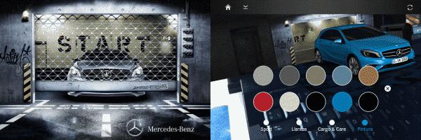 Marcador y captura de App de realidad aumentada de Mercedes