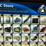 Ejemplo de panel NFC en el MWC