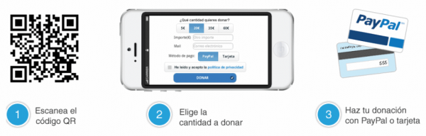 Pasos para realizar una donación mediante móvi
