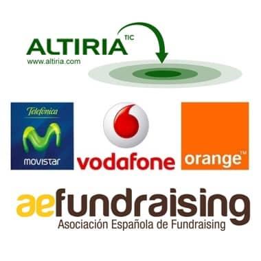 SMS - solidario: Altiria, AEF, Movistar, Vodafone y Orange