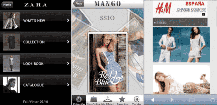 Zara Mango y H&M en el móvil